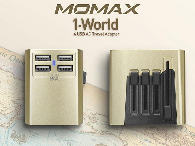 Momax 1 World 4 Usb Ac Travel Adapter