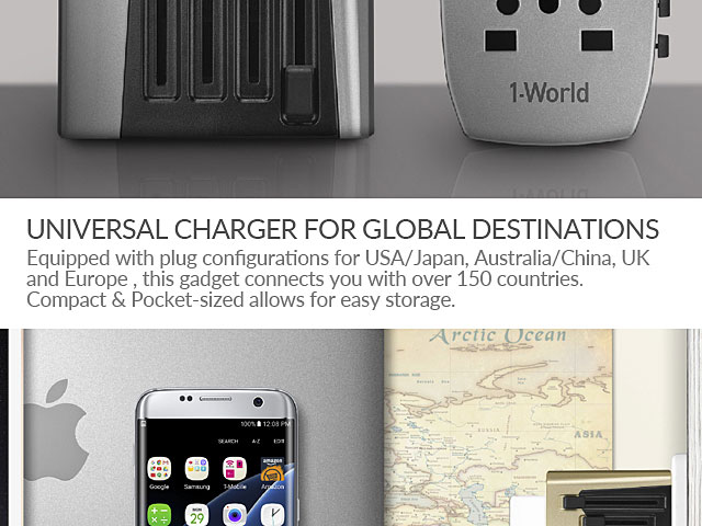 Momax 1-World 4 USB AC Travel Adapter