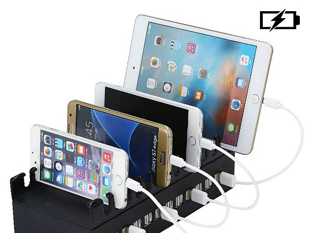22-Port USB Charger with Stand