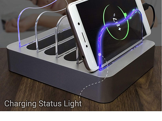 4-Port USB Charging Station