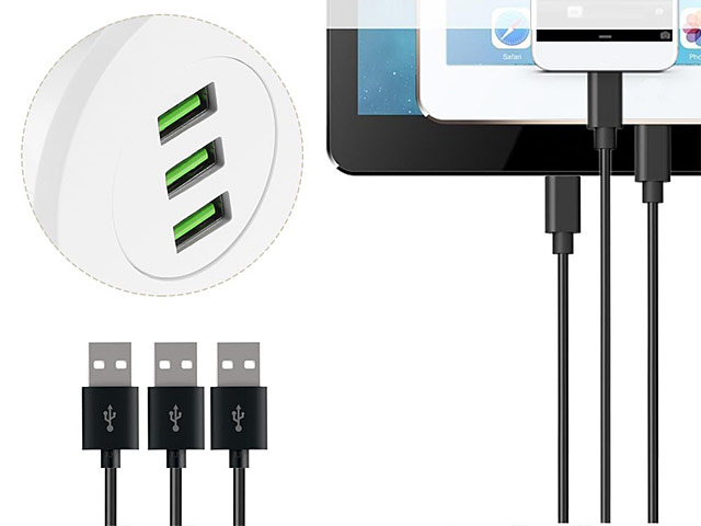 In-Desk 3-Port USB Charger