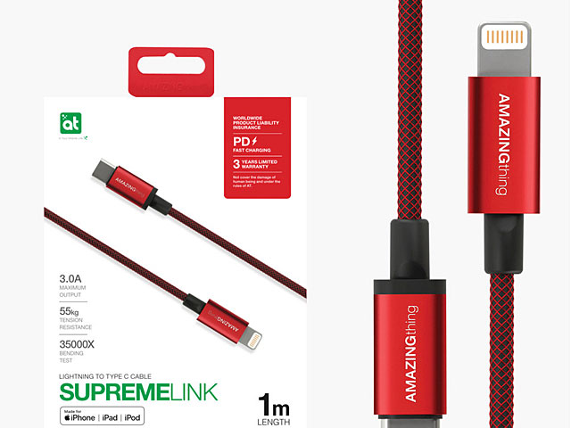 AMAZINGthing Supreme Link Powermax Lightning to Type-C Cable