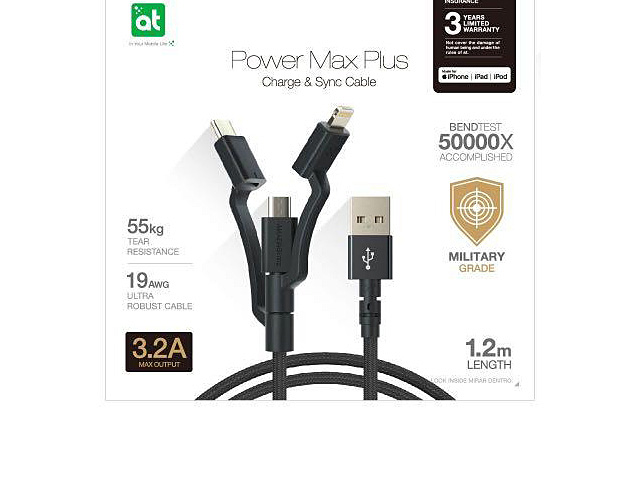 AMAZINGthing Power Max Plus 3-in-1 Charge & Sync Cable