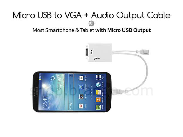 Micro USB to VGA + Audio Output Cable