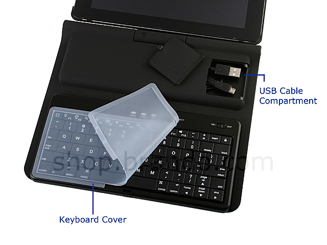 iPad 2 Hard Case with Sliding Bluetooth Keyboard