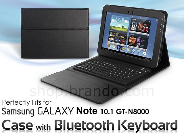 Samsung Galaxy Note 10.1 GT-N8000 Case with Bluetooth Keyboard