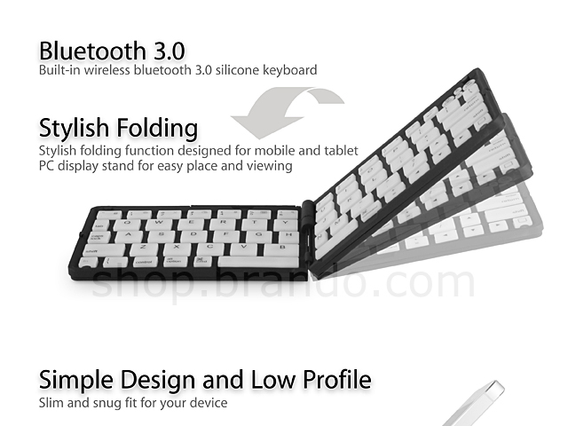 Folding Bluetooth Keyboard for iPhone 5