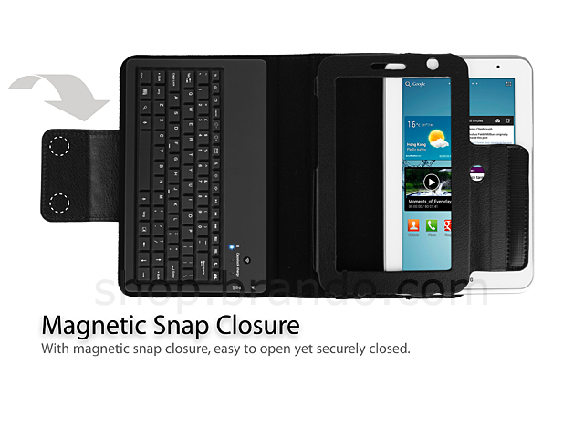 Samsung Galaxy Tab 2 7.0 GT- P3110 Reclosable Fastener Case with Bluetooth Keyboard