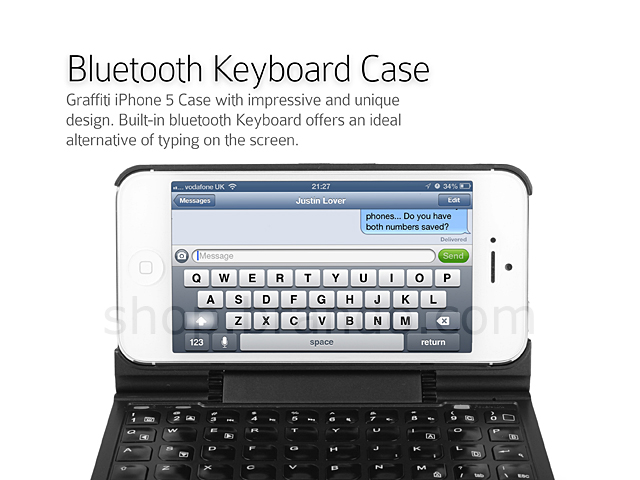 Graffiti iPhone 5 / 5s Case with Bluetooth Keyboard