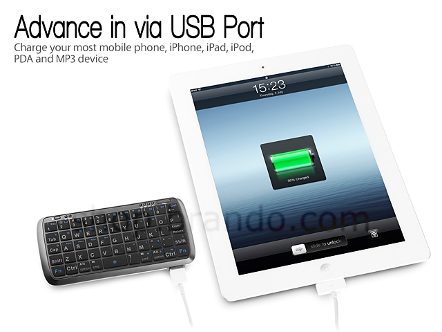 Power Bank with Mini Bluetooth Keyboard