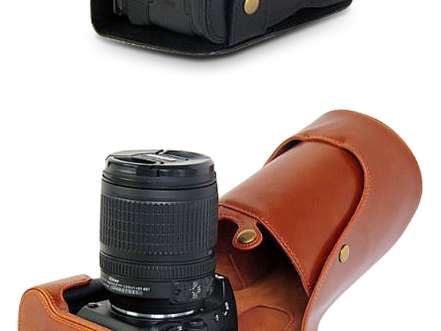 Nikon D7500 Leather Camera Case with Flash Cover