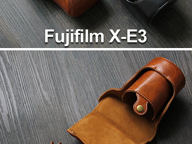 Fujifilm X E3 Premium Protective Leather Case With Leather