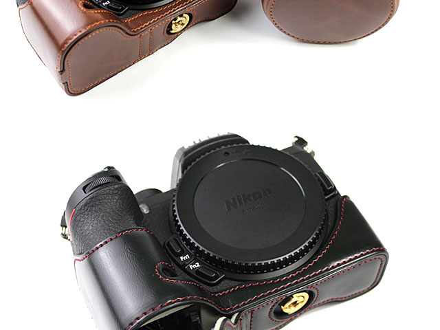 Nikon Z50 Premium Leather Case with Leather Strap