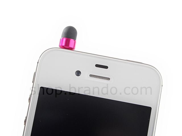Plug-in 3.5mm Fashion Tiny Ear Cap + Touch Panel Stylus