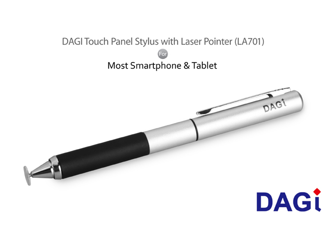 DAGI Touch Panel Stylus with Laser Pointer (LA701)