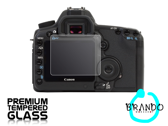 Brando Workshop Premium Tempered Glass Protector for Camera (Canon EOS 5D Mark II)