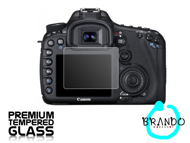 Brando Workshop Premium Tempered Glass Protector for Camera (Canon EOS 7D)