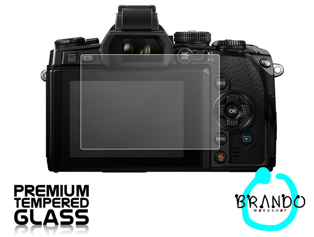 Brando Workshop Premium Tempered Glass Protector for Camera (Olympus OM-D E-M1)