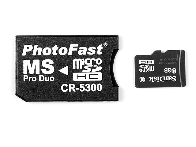 PhotoFast CR-5300 microSD Card to Memory Stick Adaptor