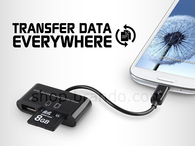 Card Reader + USB Hub for On-To-Go Mobile