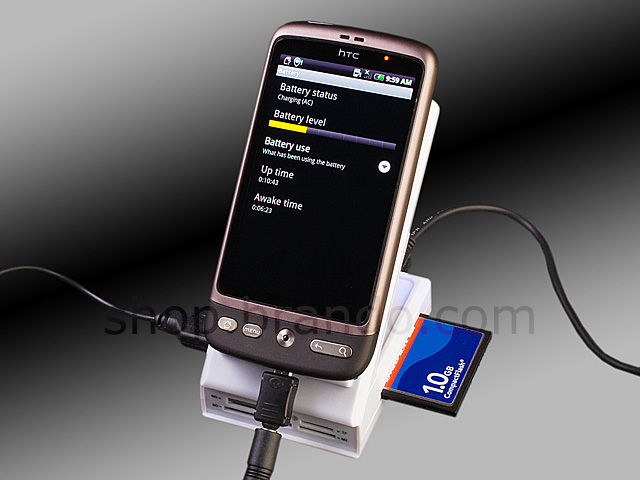 Non-slip Holder with Card Reader Combo + Charger