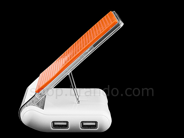Foldable Non-slip Holder With 4-Port USB Hub + Charger