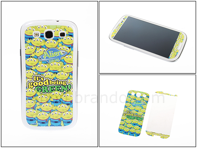 Samsung Galaxy S III I9300 Phone Sticker Front/Rear Set - Alien
