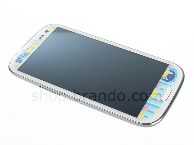 Samsung Galaxy S III I9300 Phone Sticker Front/Rear Set - Mini Stitch