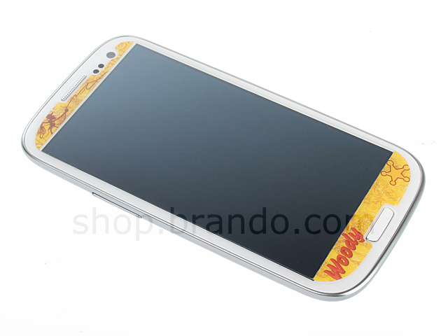 Samsung Galaxy S III I9300 Phone Sticker Front/Rear Set - Woody