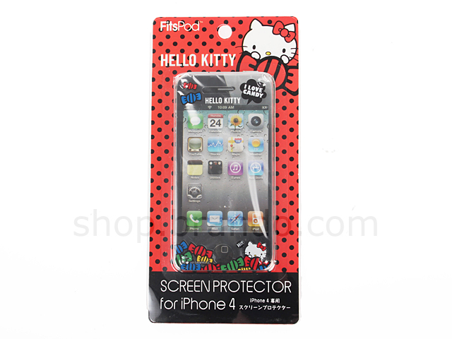 iPhone 4/4S Hello Kitty Front Screen Protector - I Love Candy