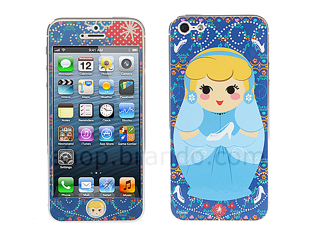 iPhone 5 Phone Sticker Front/Side/Rear Combo Set - Cinderella