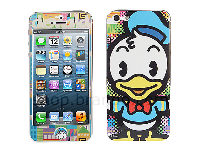 iPhone 5 Phone Sticker Front/Side/Rear Combo Set - Donald Duck