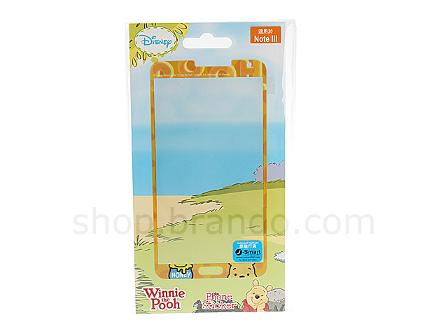 Samsung Galaxy Note 3 Front Screen Protector - Winnie the Pooh