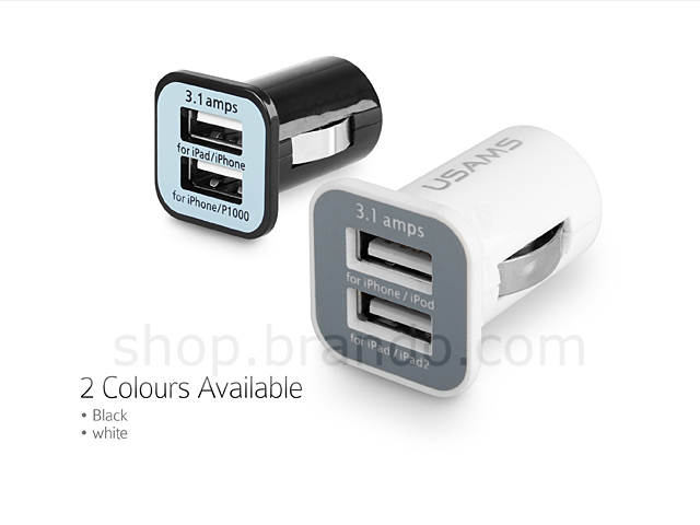 Dual USB Port to Car Charger