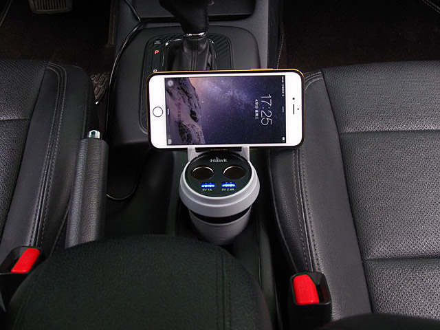 Hawk C510 Cup Type 2 + 2 Dual USB Car Charger