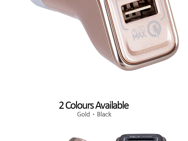 Momax Top Series QC 2.0 USB Car Charger