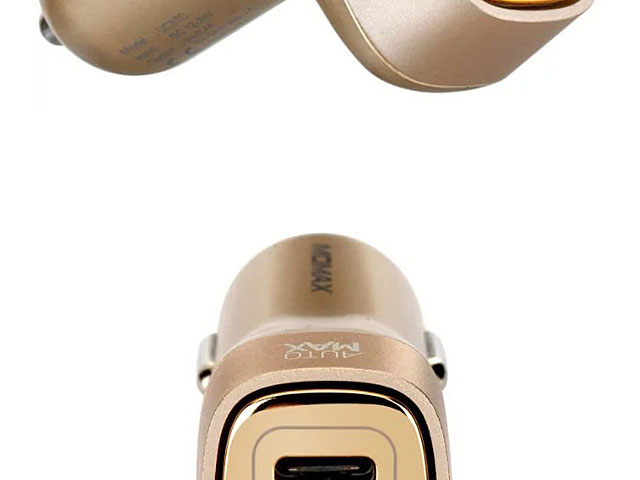Momax Type-C + Dual USB Car Charger