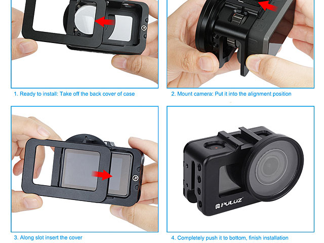 Aluminum Alloy Protective Cage with 52mm UV Lens for DJI Osmo Action