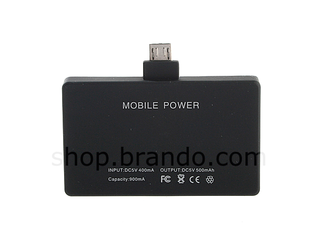 Portable PDA Charger for Micro USB (900mAh)