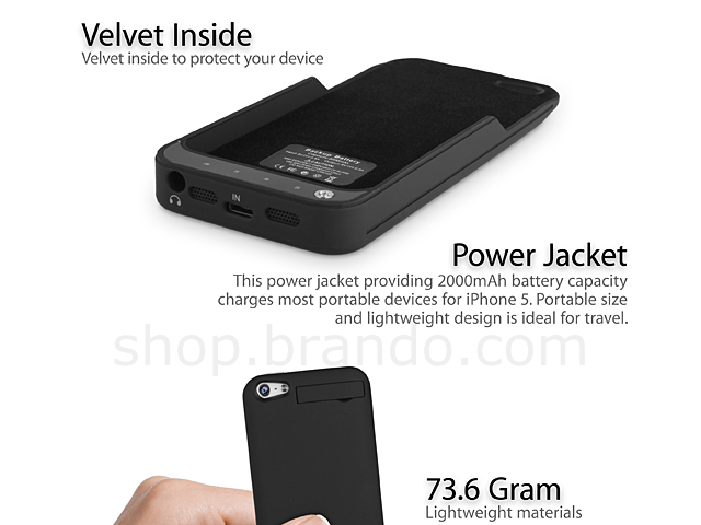 Power Jacket for iPhone 5 - 2000mAh