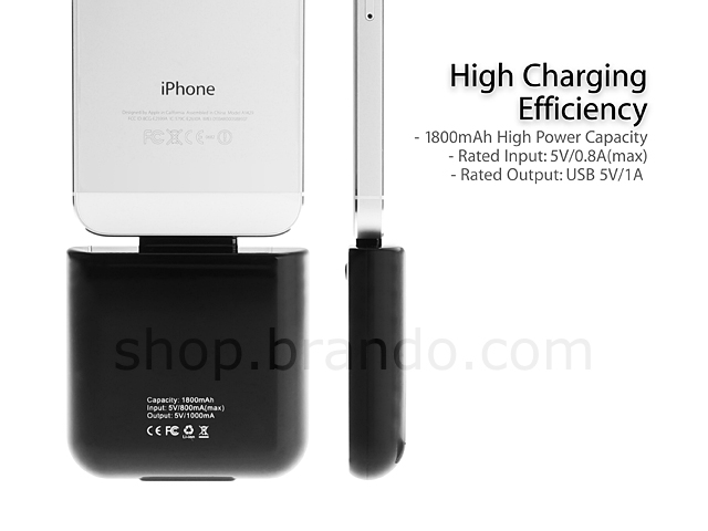 1800mAh Mobile Power Station for iPhone 5 / 5s / 5c