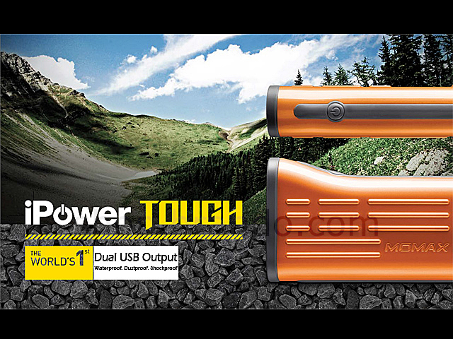 Momax 6000mAh iPower Tough Portable Dual USB Output External Battery