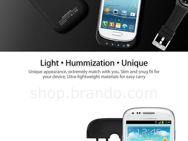 Power Jacket for Samsung Galaxy S III Mini I8190 - 2000mAh