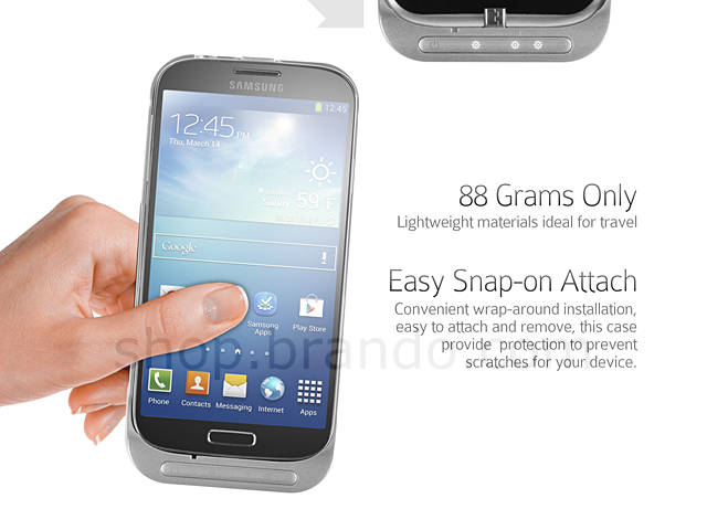 Power Jacket for Samsung Galaxy S4 - 3200mAh (Glossy Face)
