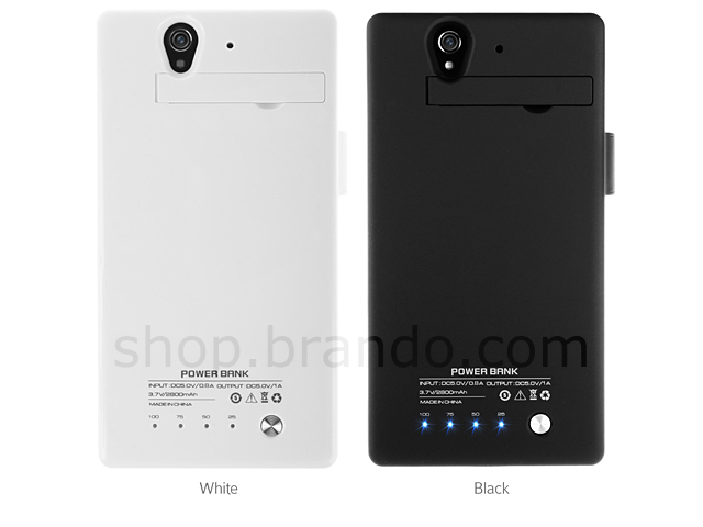 Power Jacket For Sony Xperia Z - 2800mAh