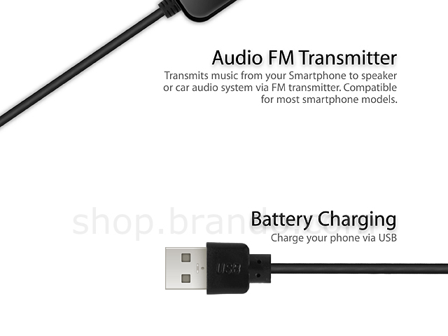 Audio FM Transmitter for Smartphone