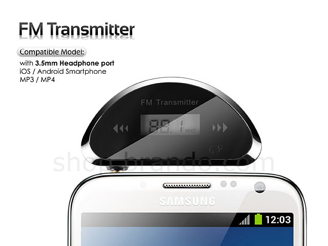 Car FM Transmitter for Smartphone