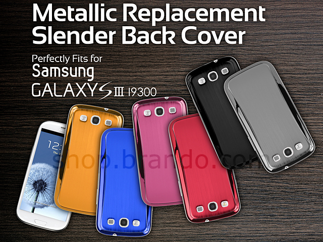 Samsung Galaxy S III I9300 Metallic Replacement Slender Back Cover