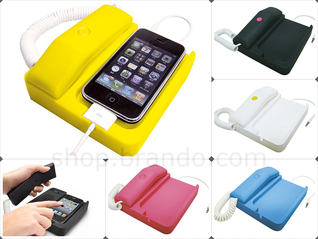 iPhone Stand with Handsets + Handsfree + Charging Holder