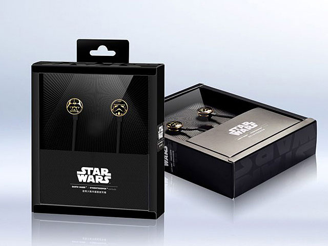 InfoThink Star Wars Darth Vader Stormtrooper 3.5mm Earbuds